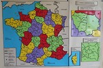 Carte murale - France administrative {JPEG}