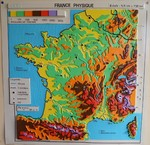 Carte murale - France physique {JPEG}